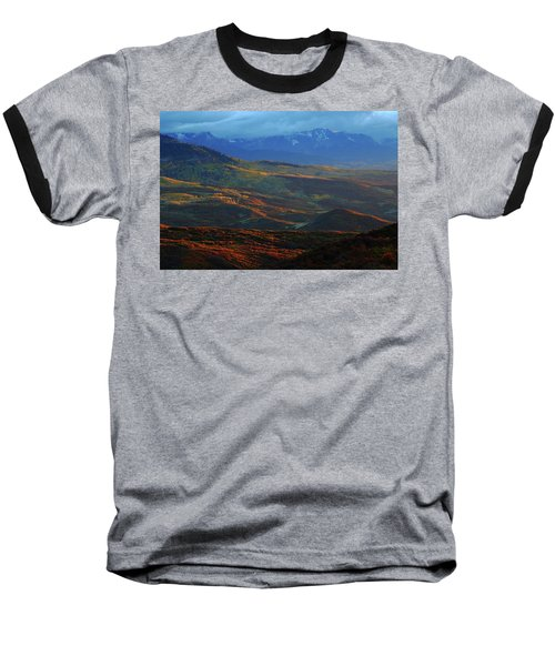 Sunset During Autumn Below The San Juan Mountains In Colorado Baseball T-Shirt by Jetson Nguyen