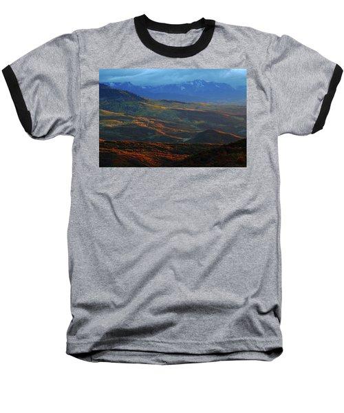 Sunset During Autumn Below The San Juan Mountains In Colorado Baseball T-Shirt