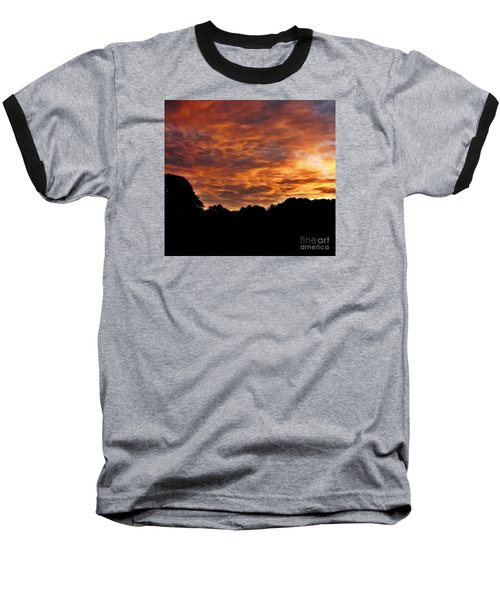 Sunset Fire Baseball T-Shirt by Christy Ricafrente