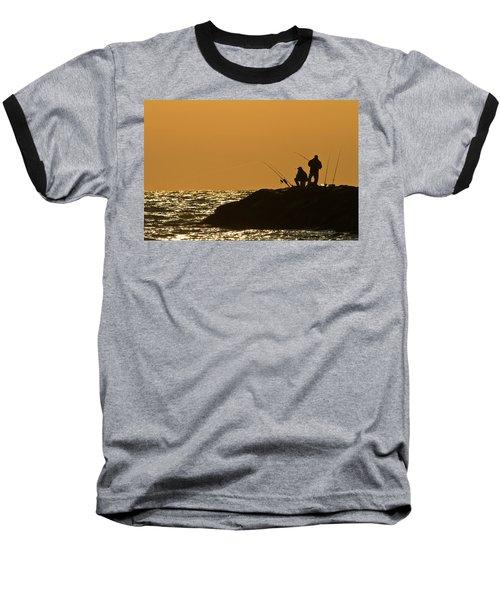 Sunset Fishermen Baseball T-Shirt