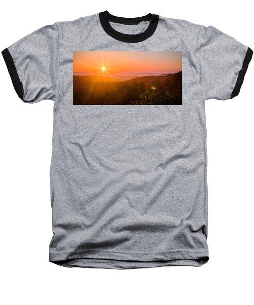 Sunset Fog Over The Pacific #1 Baseball T-Shirt