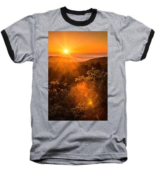 Sunset Fog Over The Pacific #2 Baseball T-Shirt