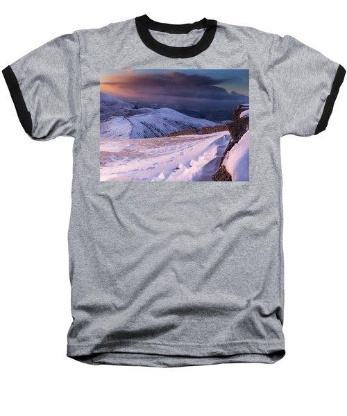 Sunset Following The Mourne Wall Baseball T-Shirt