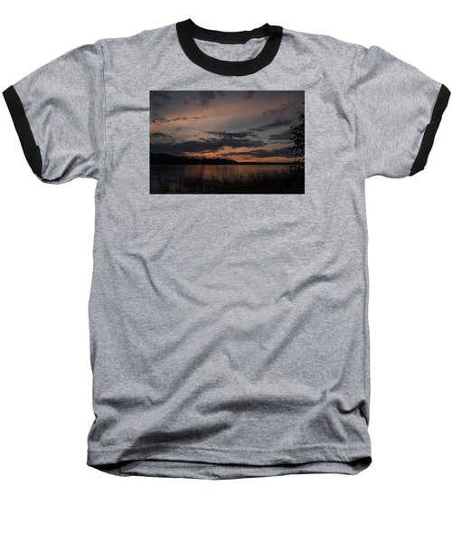 Sunset From Afternoon Beach Baseball T-Shirt by Gary Eason