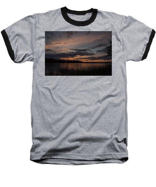 Sunset From Afternoon Beach Baseball T-Shirt