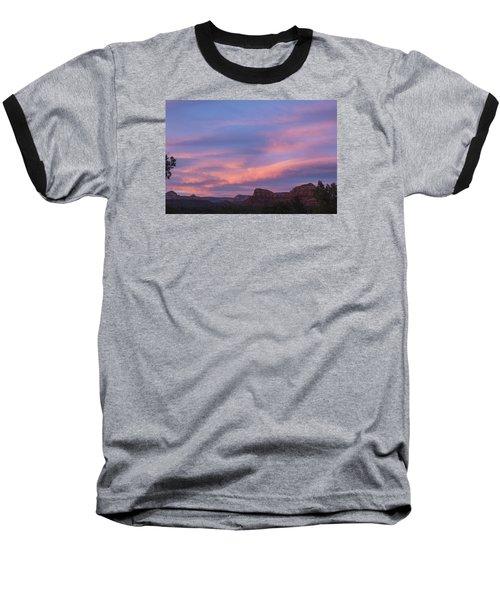 Sunset From Bell Rock Trail Baseball T-Shirt by Laura Pratt