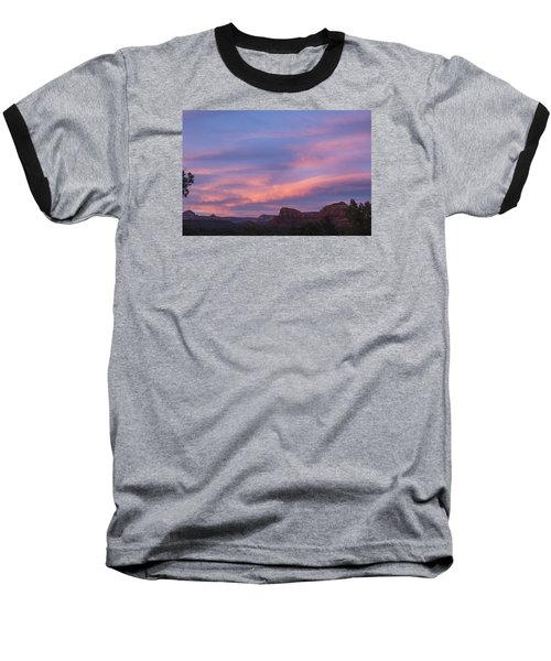 Sunset From Bell Rock Trail Baseball T-Shirt