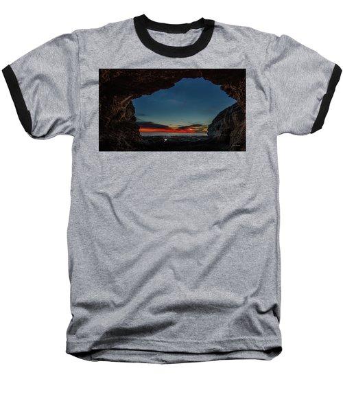 Sunset From Brady's Cave Baseball T-Shirt