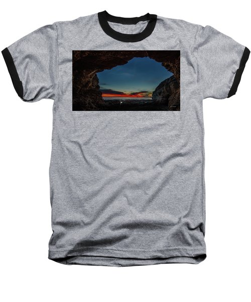 Sunset From Brady's Cave Baseball T-Shirt