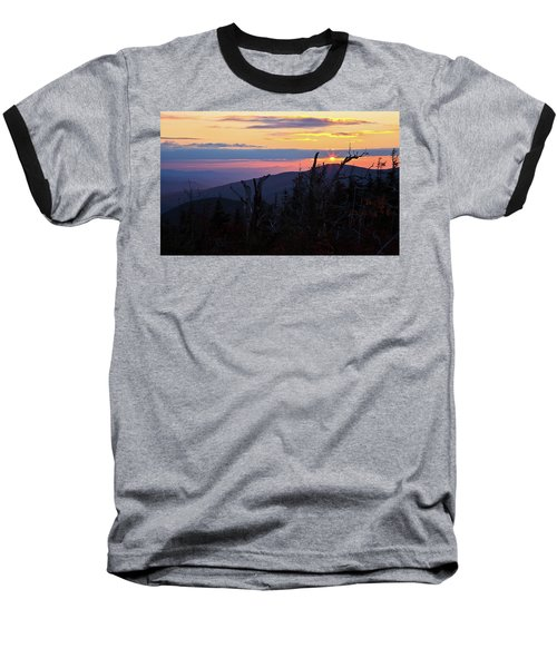 Sunset From Caps Ridge, Mount Jefferson Baseball T-Shirt