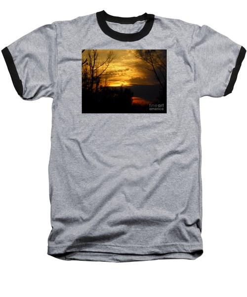 Sunset From Farm Baseball T-Shirt