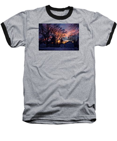 Sunset From My View Baseball T-Shirt by Kathy M Krause