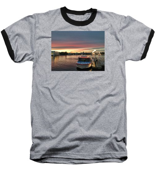 Sunset From The Boardwalk Baseball T-Shirt