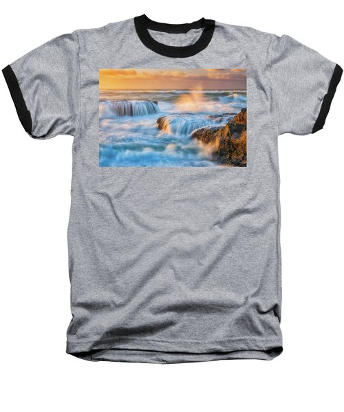Baseball T-Shirt featuring the photograph Sunset Fury by Darren White