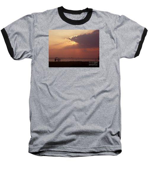 Sunset Gathering Baseball T-Shirt