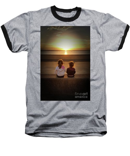 Sunset Girls Baseball T-Shirt by Lynn Bolt