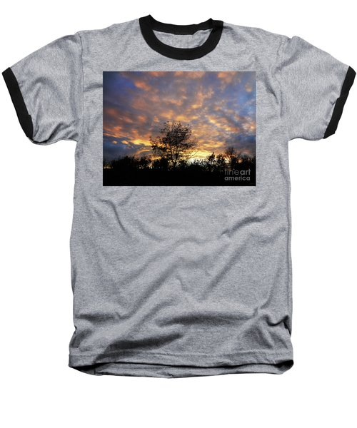 Sunset Glow Baseball T-Shirt by Gem S Visionary