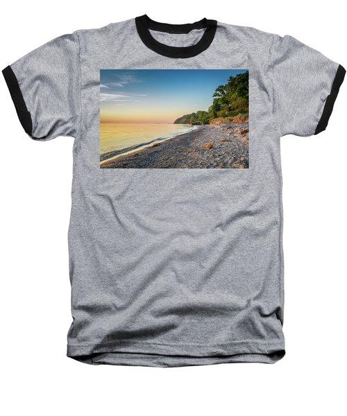 Sunset Glow Over Lake Baseball T-Shirt