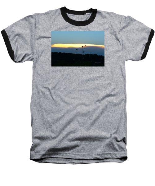 Sunset Gold Stripe Queen Anne Baseball T-Shirt