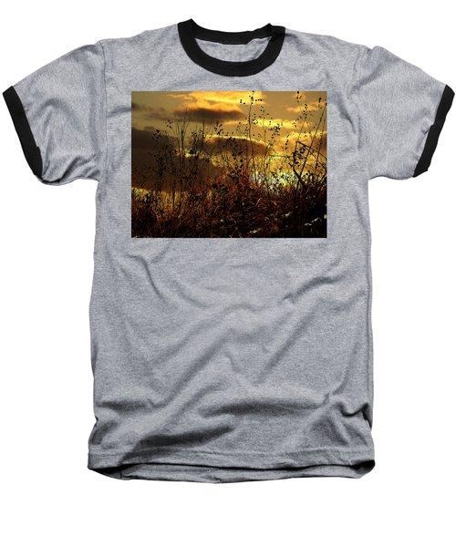 Sunset Grasses Baseball T-Shirt