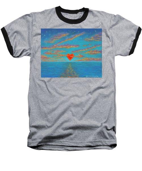 Sunset Heart 01 Baseball T-Shirt