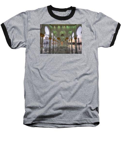 Baseball T-Shirt featuring the photograph Sunset Hindu Temple by John Swartz