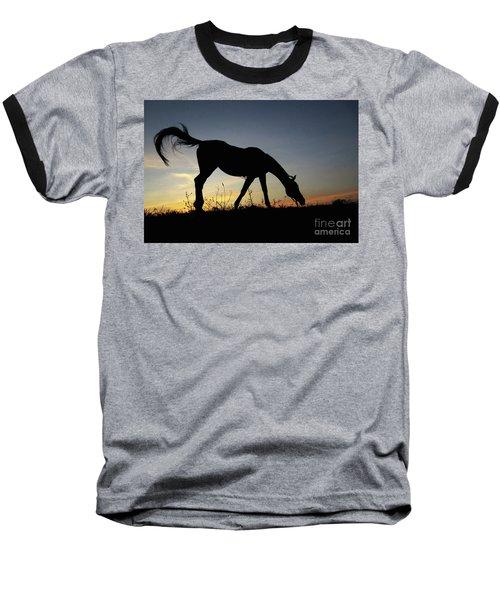Sunset Horse Baseball T-Shirt