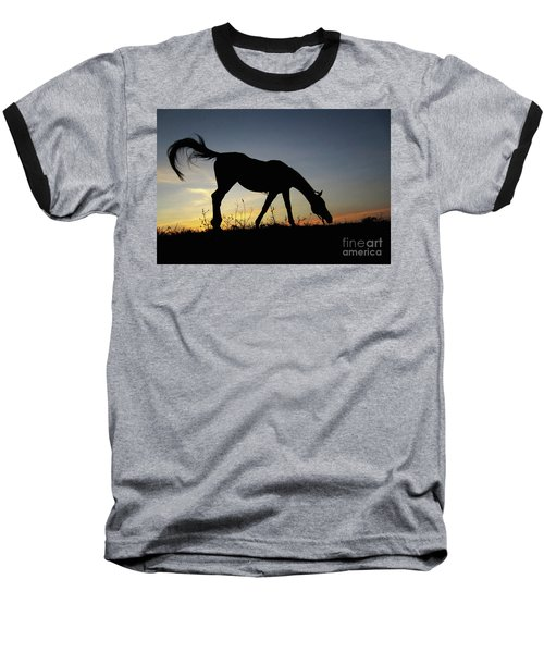 Sunset Horse Baseball T-Shirt