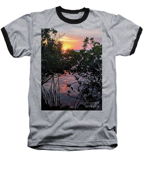Sunset, Hutchinson Island, Florida  -29188-29191 Baseball T-Shirt by John Bald