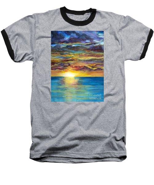 Sunset II Baseball T-Shirt by Suzette Kallen