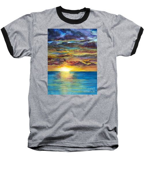 Baseball T-Shirt featuring the painting Sunset II by Suzette Kallen
