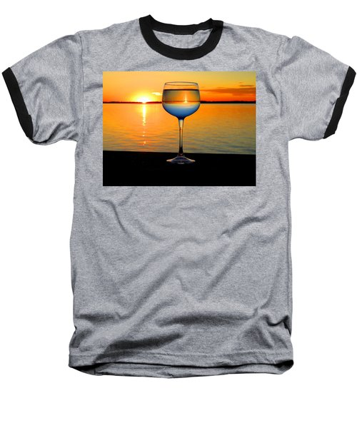 Sunset In A Glass Baseball T-Shirt