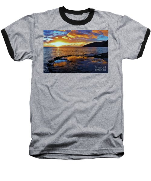 Sunset In A Tide Pool Baseball T-Shirt