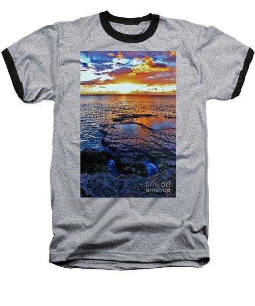 Sunset In A Tide Pool II Baseball T-Shirt