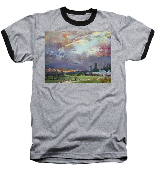 Sunset In A Troubled Weather Baseball T-Shirt