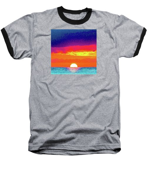 Sunset In Abstract 500 Baseball T-Shirt