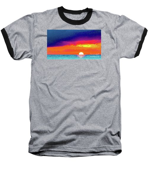 Sunset In Abstract  Baseball T-Shirt