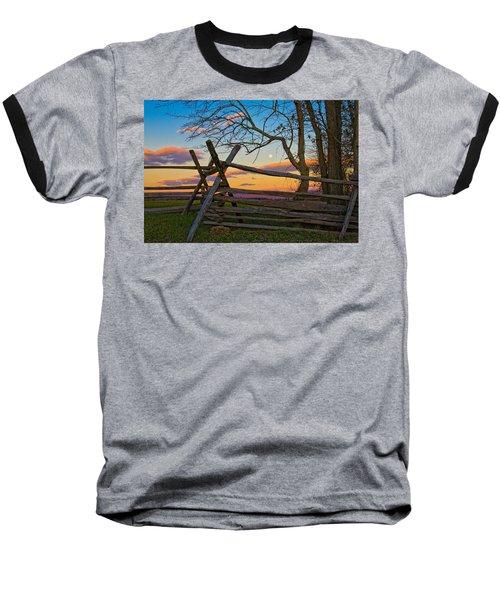 Sunset In Antietam Baseball T-Shirt