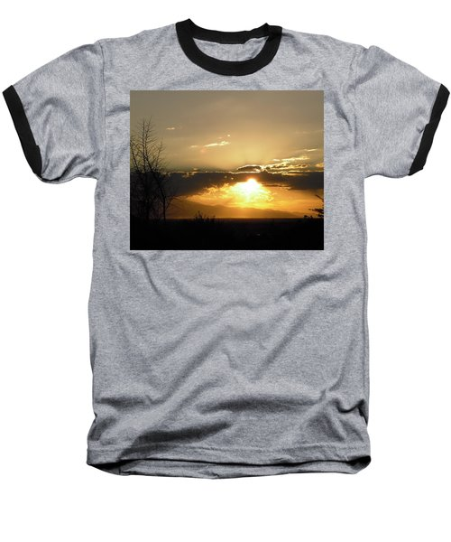 Sunset In Apple Valley, Ca Baseball T-Shirt