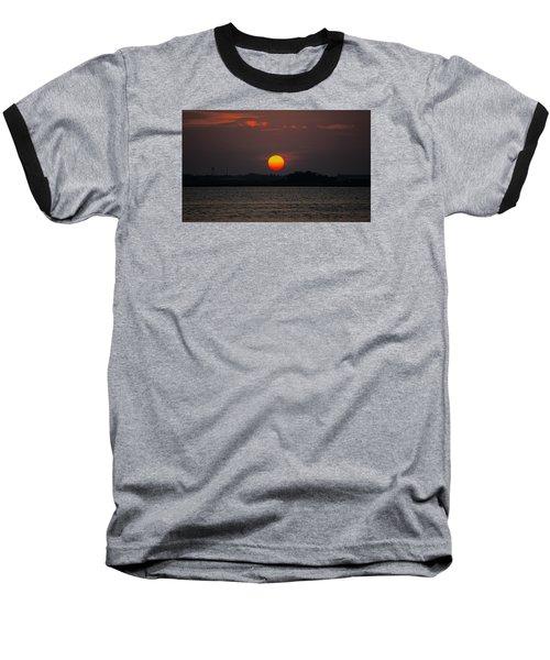 Sunset In Biloxi Baseball T-Shirt