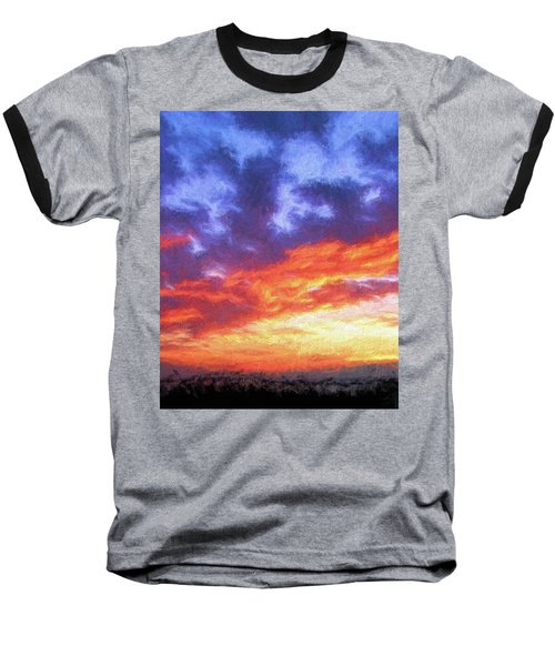 Sunset In Carolina Baseball T-Shirt