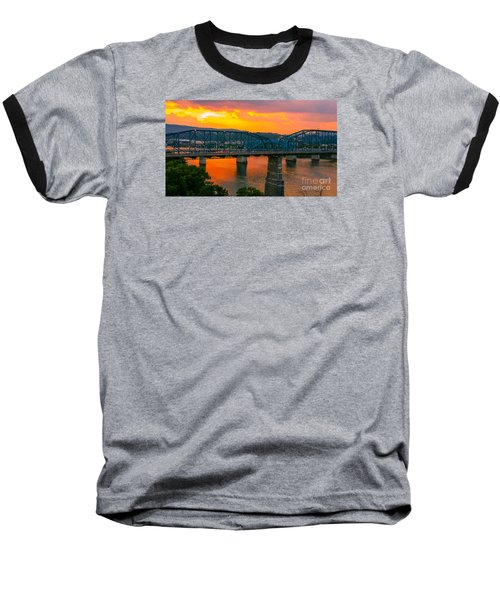Baseball T-Shirt featuring the photograph Sunset In Chattanooga by Geraldine DeBoer