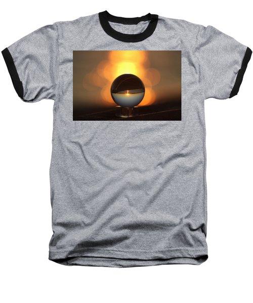 Sunset In Crystal Ball Baseball T-Shirt