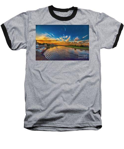 Sunset In Dresden Baseball T-Shirt
