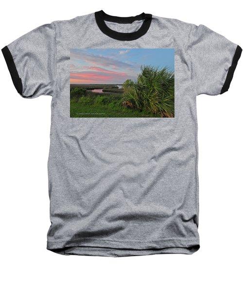 D32a-89 Sunset In Crystal River, Florida Photo Baseball T-Shirt