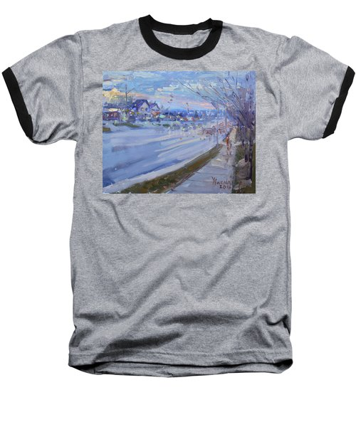 Sunset In Guelph St Georgetown On Baseball T-Shirt