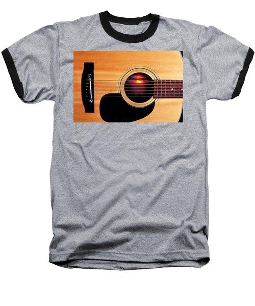 Sunset In Guitar Baseball T-Shirt by Garry Gay