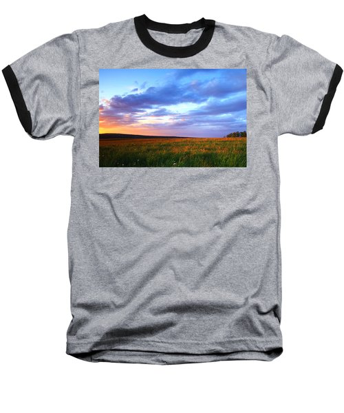 Sunset In Ithaca South Hill Baseball T-Shirt by Paul Ge