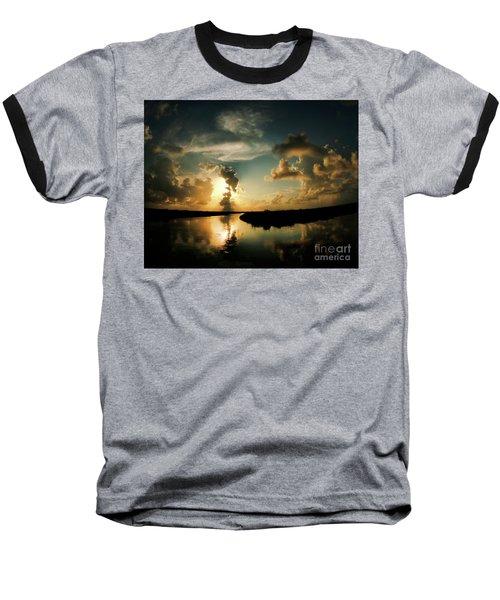 Sunset In Lacombe, La Baseball T-Shirt