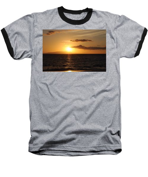 Sunset In Maui Baseball T-Shirt by Michael Albright